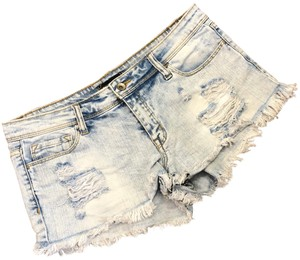 Klique B Cut Off Shorts blue
