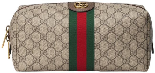 Item - Beige Ebony Green Red - Gg Supreme Ophidia Gg Toiletry Case Cosmetic Bag