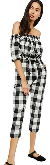 Item - Black and White Nashville Gingham Rue Stiic Romper/Jumpsuit