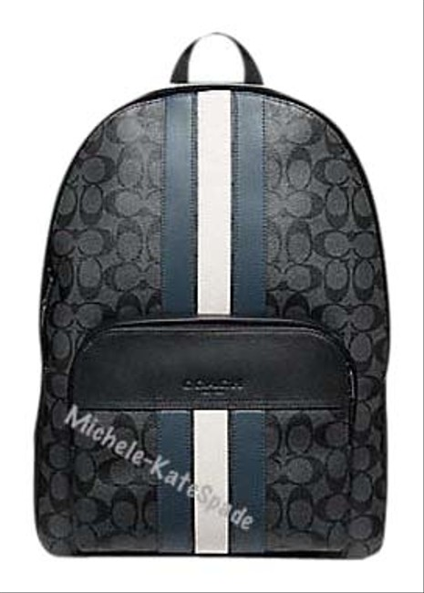 Item - Houston ** Flash-sale ** In Signature with Varsity Stripe Multicolor Coated Canvas Backpack