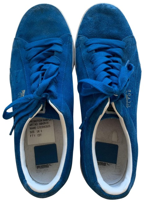Puma Blue and White Leather Men's Clyde
