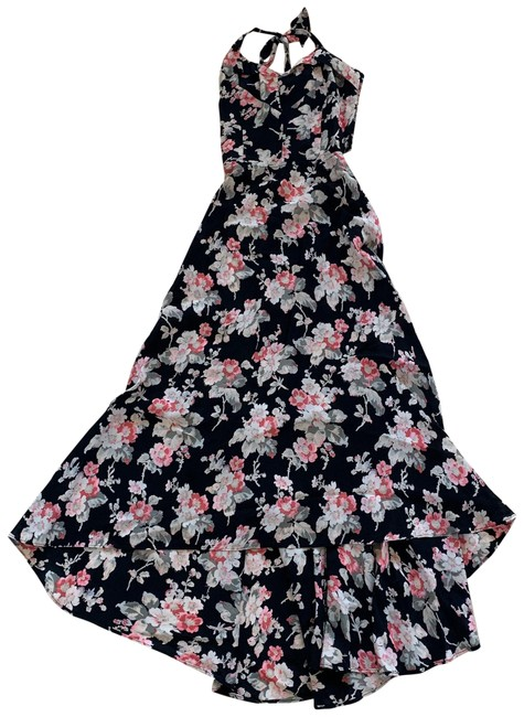 Item - Pink Black Floral Nwot Small Revolve High Low Long Casual Maxi Dress Size 4 (S)