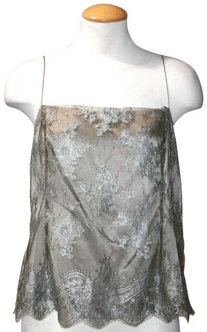 Item - Grey Metallic Lace Camisole Blouse Size 14 (L)