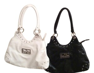 Baby Babe Wet Look 2 Vintage Babe Satchel in Black and white