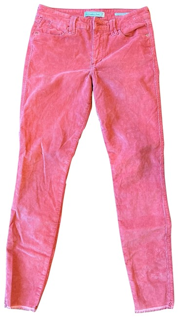 Item - Salmon Pink Coated Straight Leg Jeans Size 6 (S, 28)