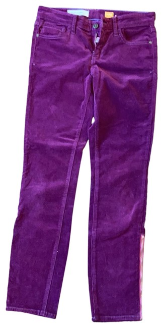 Anthropologie Deep Purple Coated Straight Leg Jeans Size 6 (S, 28) Anthropologie Deep Purple Coated Straight Leg Jeans Size 6 (S, 28) Image 1