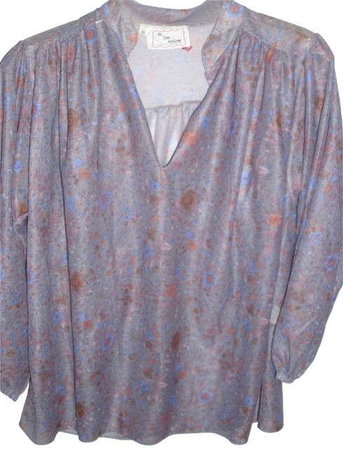 Other Sheer Floral Vintage Pullover Tunic Top