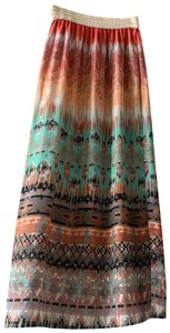Poetry Maxi Skirt gold, mint green, dark coral, cream,black, teal, mustard
