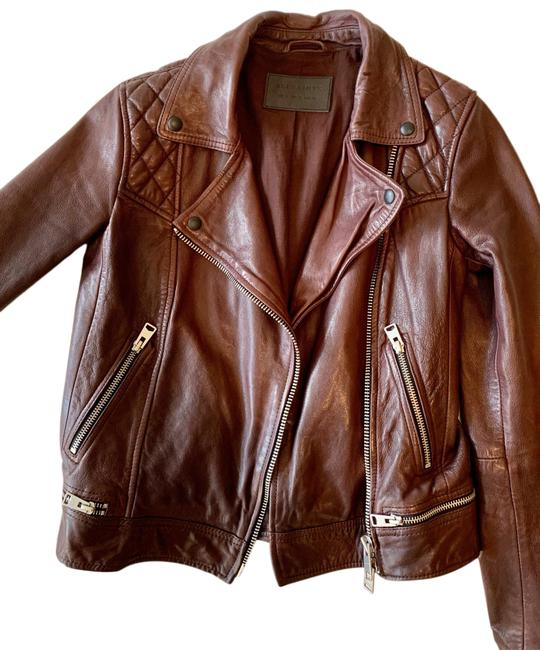 Item - Oxblood (Red/Brown) Conroy Biker Jacket Size 2 (XS)