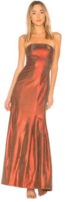 Item - Red/Gold Abra Strapless Gown Long Formal Dress Size 2 (XS)
