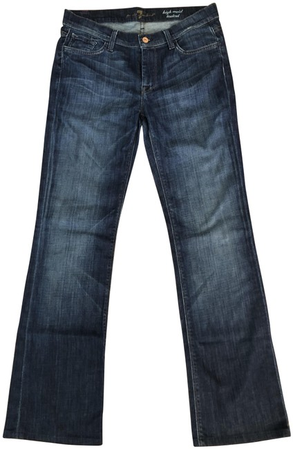 Item - Blue Medium Wash High Waist Bootcut Relaxed Fit Jeans Size 30 (6, M)