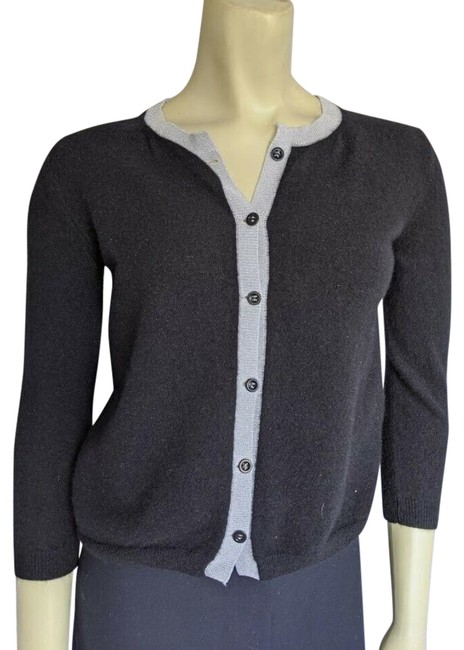 Item - Black Napoli It 44 Us Cashmere Button Sh Cardigan Size 8 (M)