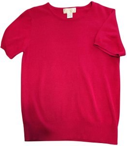 Jennifer Moore Spring Summer Classic Soft Vintage Top Ruby Red