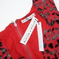 Alice + Olivia Red with Tag Viscose/Silk Brooks Leopard-print Fit-flare Short Cocktail Dress Size 4 (S) Alice + Olivia Red with Tag Viscose/Silk Brooks Leopard-print Fit-flare Short Cocktail Dress Size 4 (S) Image 3