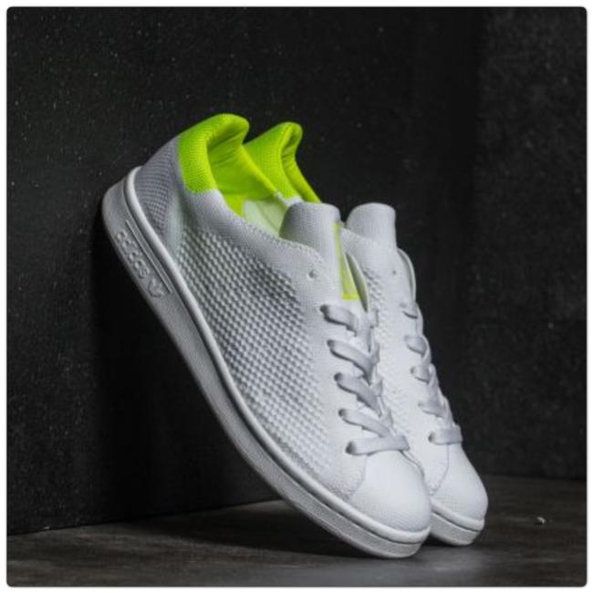 Item - White/Solar Yellow Stan Smith Primeknit Sneakers Size US 5 Regular (M, B)