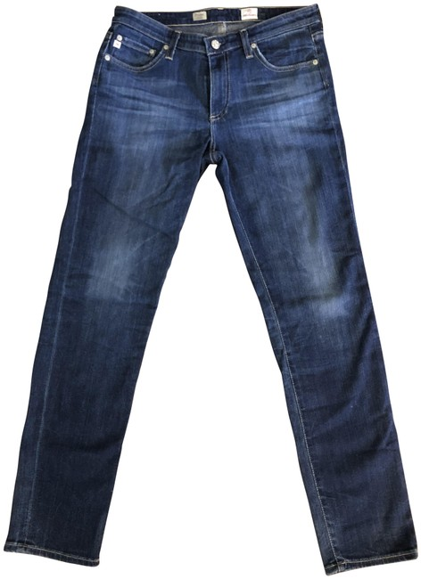 Item - Blue Medium Wash Mid-rise Cigarette Relaxed Fit Jeans Size 30 (6, M)