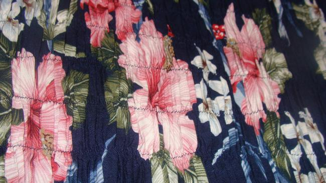 Navy Blue with multi colors Maxi Dress by Other