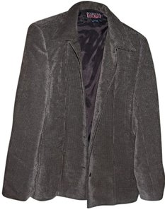 Mac & Jac Checked Button Front Velveteen Brown Blazer