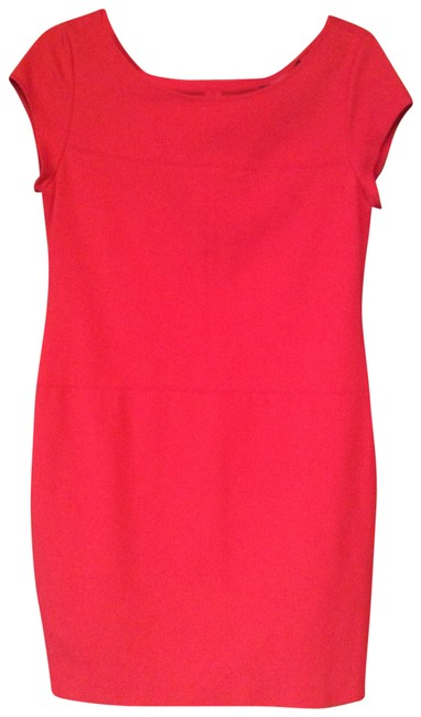Item - Coral Red Style 66-d010 Mid-length Cocktail Dress Size 10 (M)