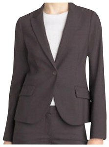 Theory Wool One Button Tailor Brown Blazer