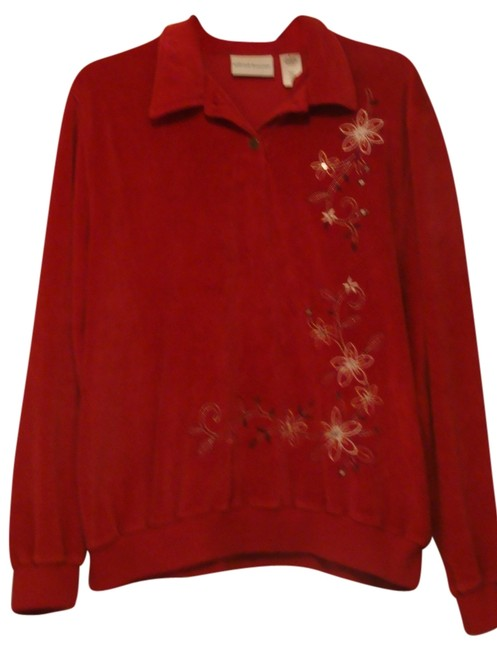 Preload https://item5.tradesy.com/images/alfred-dunner-red-sweatshirt-sweaterpullover-size-14-l-2707909-0-0.jpg?width=400&height=650