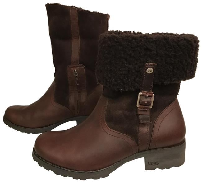 Item - Brown Bellvue Ll Oil Rubbed Leather Suede Shearling Boots/Booties Size US 9.5 Regular (M, B)