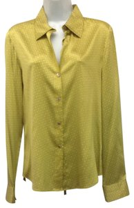 Theory Button Down Shirt Chartreuse