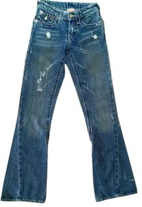True Religion Distressed Flare Leg Jeans-Distressed