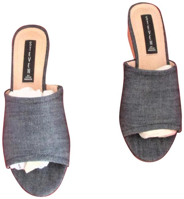 Item - Denim Women's Lemur Slip-on Sandals Wedges Size US 7.5 Regular (M, B)