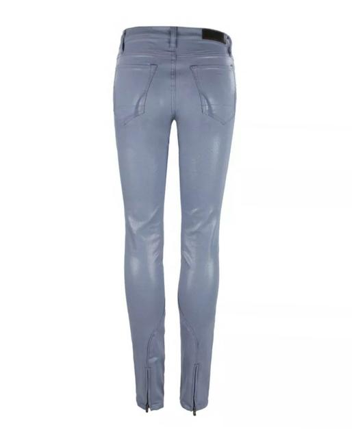 Item - Baby Blue Coated Brodie Waxed Skinny Jeans Size 2 (XS, 26)