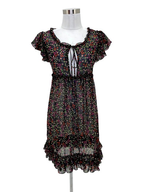 Item - Multi-colored N214 Us Small Hearts Babydoll Short Casual Dress Size 0 (XS)