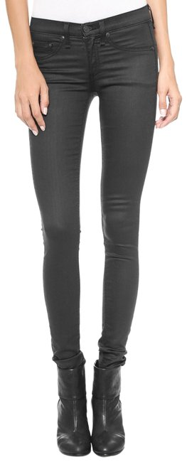 Item - Black Coated The Color: Shoreditch Jeggings Size 2 (XS, 26)