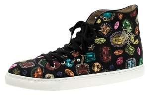 Charlotte Olympia Print Canvas Leather Multicolor Athletic