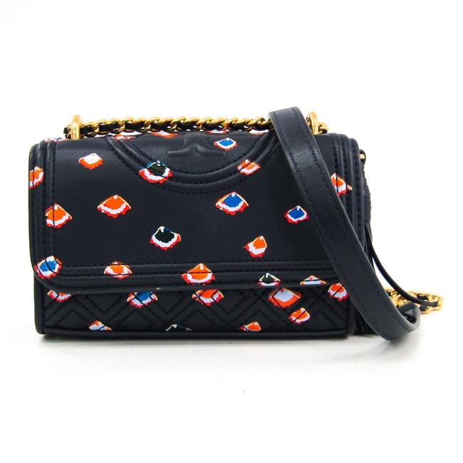 Item - Quilting Chains Women's Multi-color / Navy Leather Shoulder Bag