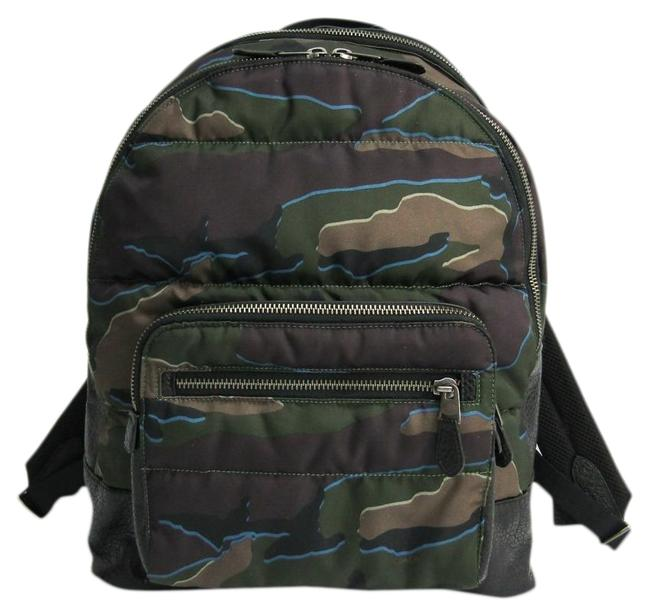 Coach F31319 Men's Black / Camouflage Leather / Nylon Backpack Coach F31319 Men's Black / Camouflage Leather / Nylon Backpack Image 1