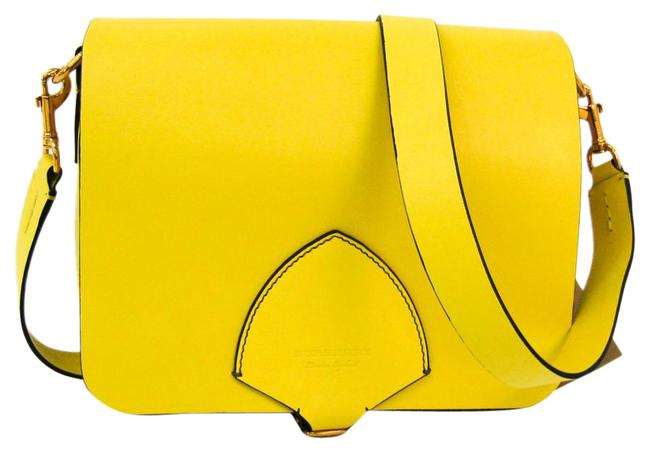 Burberry 4073124 Women's Yellow Leather Shoulder Bag Burberry 4073124 Women's Yellow Leather Shoulder Bag Image 1