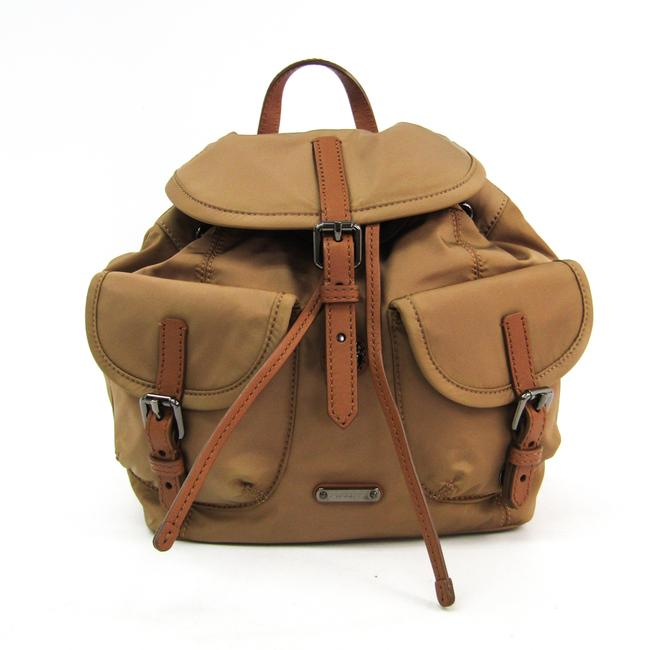 Item - Women's Brown / Dark Beige Nylon / Leather Backpack