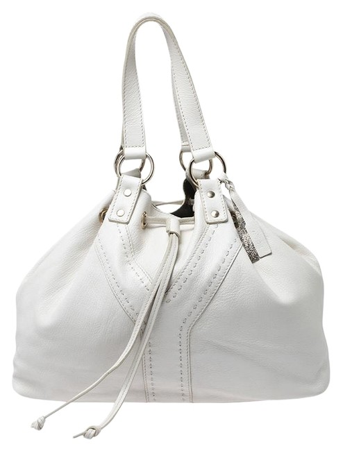 Saint Laurent Paris White/Grey Reversible Double Sac Y White Leather Tote Saint Laurent Paris White/Grey Reversible Double Sac Y White Leather Tote Image 1