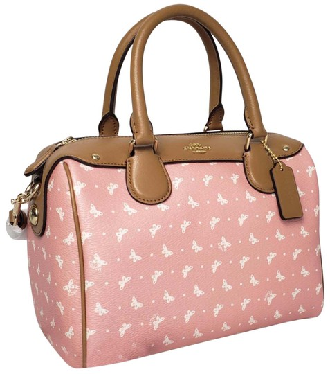 Preload https://img-static.tradesy.com/item/27081430/coach-bennett-mini-blush-printed-coated-canvas-with-leather-details-satchel-0-10-540-540.jpg