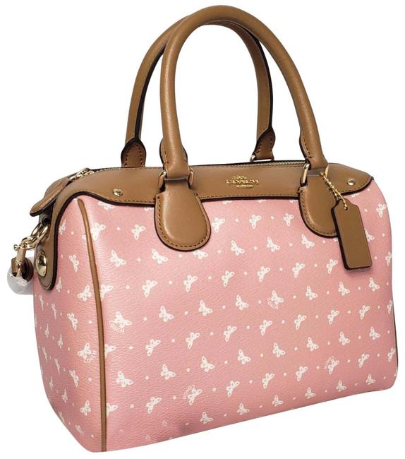 Coach Bennett Mini Blush Printed Coated Canvas with Leather Details Satchel Coach Bennett Mini Blush Printed Coated Canvas with Leather Details Satchel Image 1
