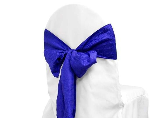 Royal Blue 60 Chair Sash (Taffeta Crinkle) -