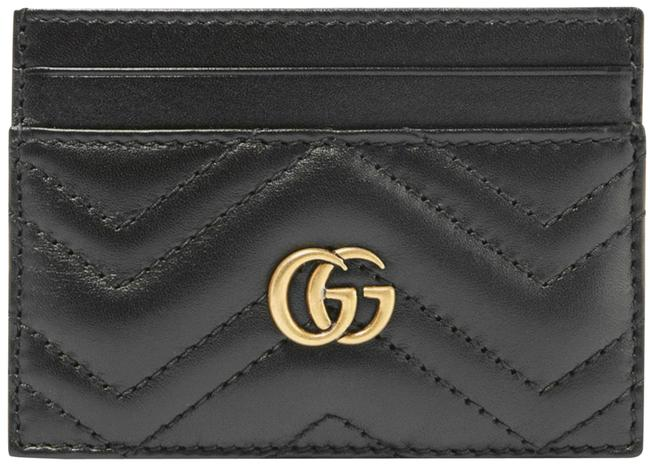 Gucci Marmont New Quilted Card Case New Black Leather Clutch Gucci Marmont New Quilted Card Case New Black Leather Clutch Image 1