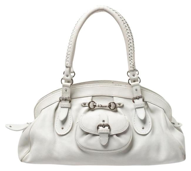 Dior Large My Frame White Leather Satchel Dior Large My Frame White Leather Satchel Image 1