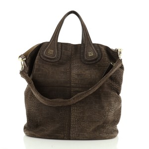 Givenchy Suede Tote in Brown