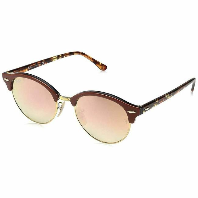 Ray-Ban Brown Grey Orange Frame & Copper Flash Gradient Lens Rb4246 122070 Unisex Round Sunglasses Ray-Ban Brown Grey Orange Frame & Copper Flash Gradient Lens Rb4246 122070 Unisex Round Sunglasses Image 1