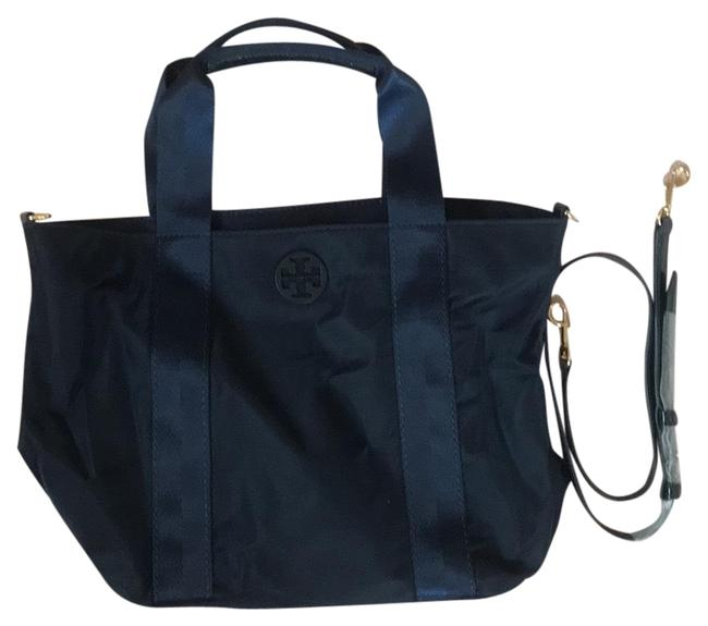 Tory Burch Blue Navy Nylon Tote Tory Burch Blue Navy Nylon Tote Image 1