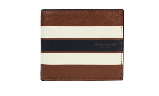 Coach Multicolor Ccompact Id In Varsity Leather F75399 Wallet Coach Multicolor Ccompact Id In Varsity Leather F75399 Wallet Image 1