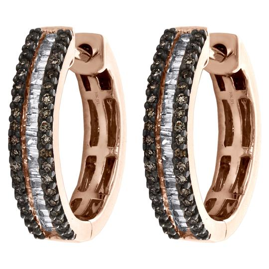 Preload https://img-static.tradesy.com/item/27082146/jewelry-for-less-rose-gold-10k-round-and-baguette-brown-diamond-tier-hoop-12-ct-earrings-0-0-540-540.jpg