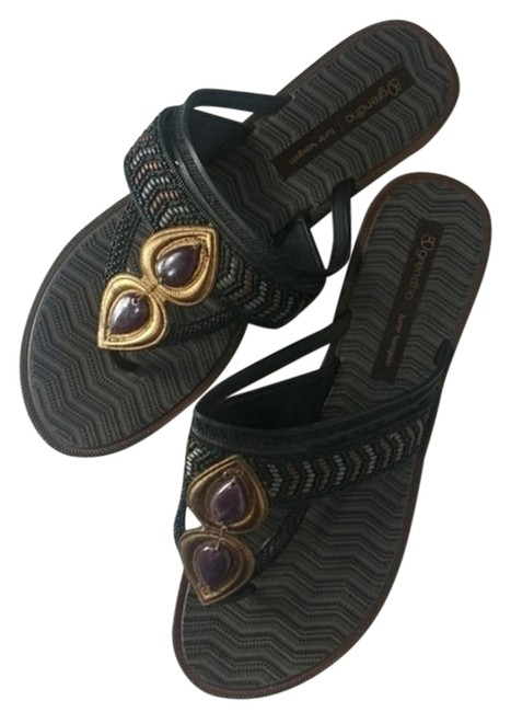 Brown Flip Flop Sandals Size US 9 Regular (M, B) Brown Flip Flop Sandals Size US 9 Regular (M, B) Image 1
