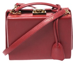 Mark Cross Leather Red Clutch